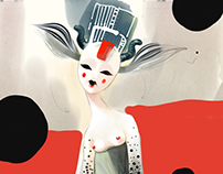 Cosmic Queen character (testing iPad Pro)
