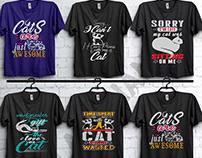cat t-shirt design.