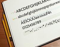 Mi propia fuente - My own font.