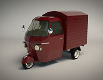 Low Poly Three Wheeled Van