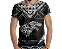 tshirt design for Game of thrones fans