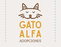 Diseño de identidad Gato Alfa