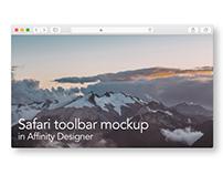 Safari toolbar mockup