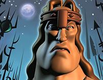 Arnold Schwarzeneggar as Conan the Barbarian