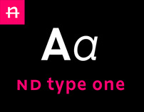 Typeface • nd type one