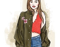Fashion Outfit Illustration | @mariafiksson