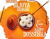 Bjoya & Dussehra Wish Artwork Design