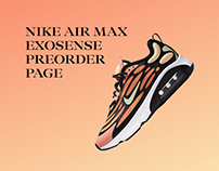 Nike Air Max preorder page