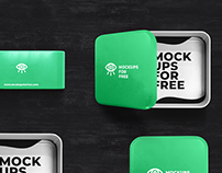 Metal Boxes Mockup/ Free PSD