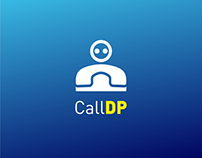 CallDP App Logo and UI Design
