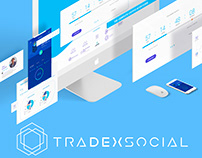Cryptocurrency Platform TradexSocial UX/UI, Rebranding