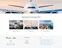 Logistics website pages design, NYC