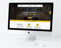 """""""GEOVIZIJA"""" internetinio puslapio dizainas"""