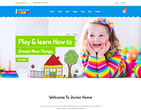 JuniorHome - Day Care & Kindergarten School Bootstrap4