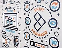 Shift Forward Wall Art and T-Shirt