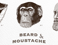 Monkeys Beards - Poster Illustration