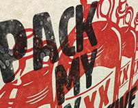 Pangram - letterpress posters