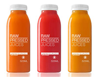 Branding and package design for a juicing company