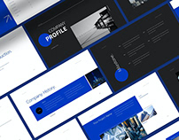 Simple Company Profile Powerpoint Template