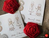 Wedding Invite Design for Shilpa & Manvir