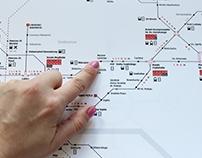 Schemat sieci tramwajowej Krakowa
