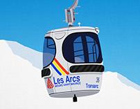 Les Arcs Ski Resort Poster
