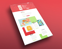 Fruits & Veggies web design