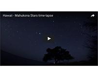 Time-lapse - Mahukona Stars