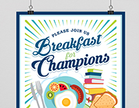 Highline College Fundraising Breakfast Poster