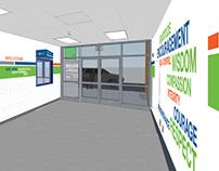 Lobby graphics / NHA Schools