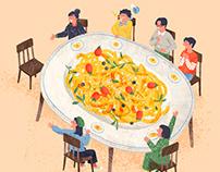 勤美誠品綠園道|訂餐網站首頁插畫