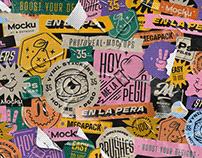 Vynil Stickers Mockup · Megapack