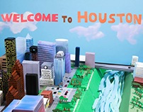 VisitHouston.com Paper City Animation