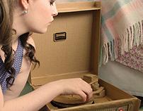 Dansette Bermuda Record Player - Cardboard Model