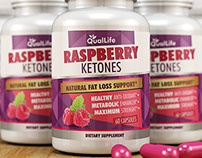 Raspberry Ketones Label Design