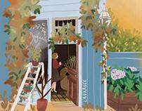 Little shop illustration