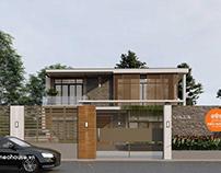Thiết kế biệt thự đẹp 2 tầng 2 mặt tiền hiện đại 15x12m