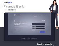 Credit, Finance, Bank, Grey UI Web Design - Web Tasarim