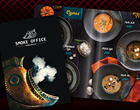 Print design menu for hookah cafe, bar