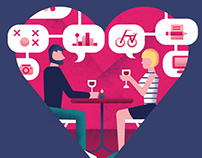Editorial Illustration for Dating | D Magazine