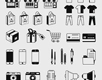 Outline and fill icons