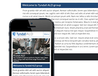 Website design for the ALD group at Tyndall.