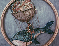 Embroidered Whale . Work Process