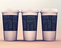 Cashew & Clive paper cups