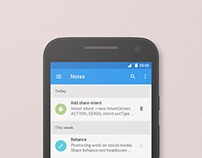 uNote, Material Design Android App