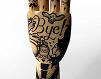 Wood tattoo hand