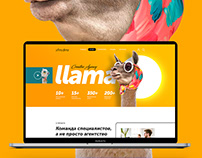 Landing page for a design agency