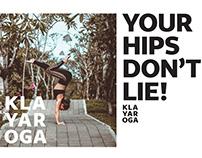 Visual identity for the yoga teacher Klara Pokorna
