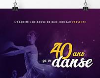 Affiche promotionnelle pour l'Académie de danse