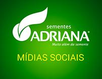 Sementes Adriana - Mídias Sociais